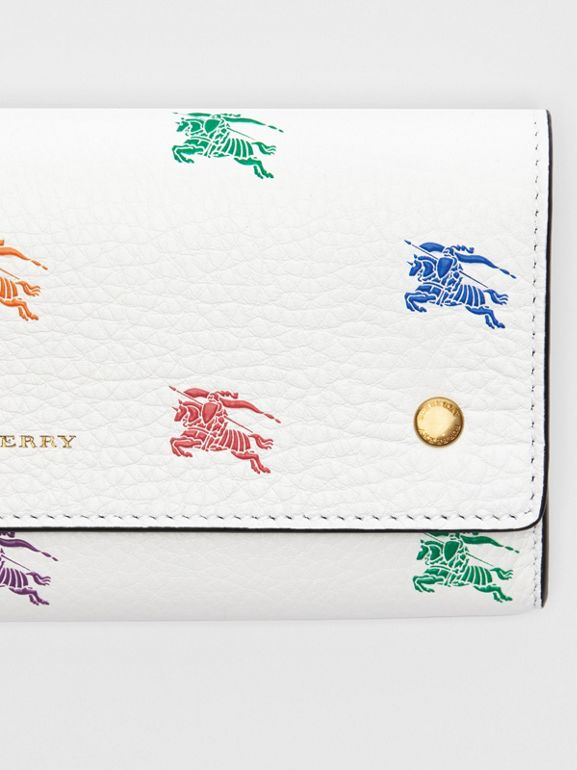 EKD Leather Continental Wallet in Chalk White - Women | Burberry - cell image 1