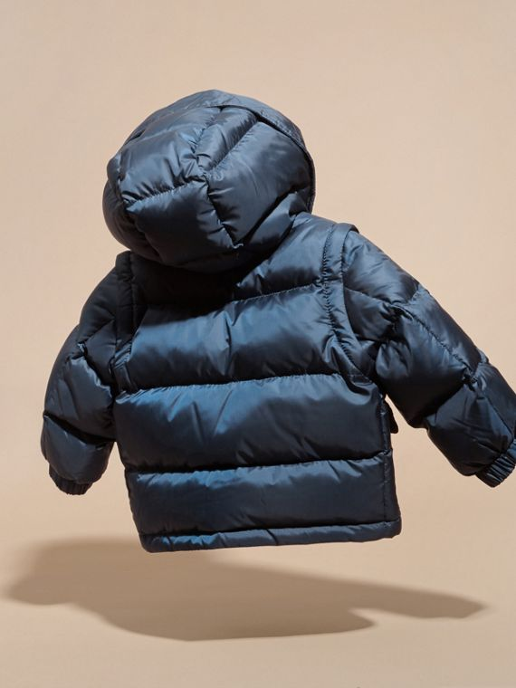 Ink blue Detachable Sleeve Puffer Jacket Ink Blue - cell image 3