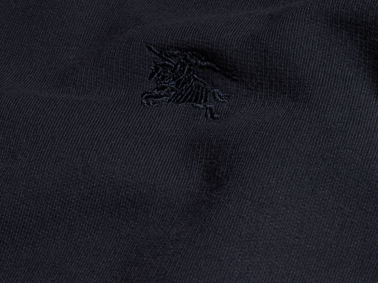 Cotton Blend Jersey Sweatshirt in Navy - cell image 1