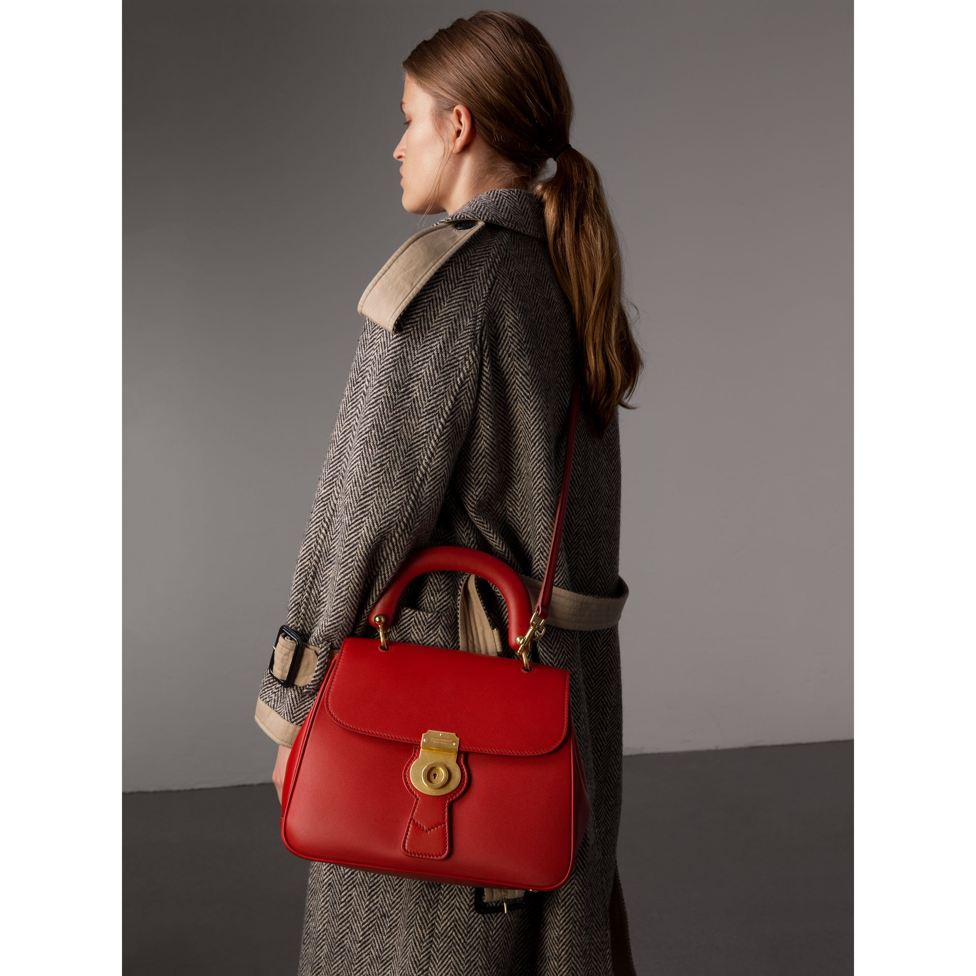 The Medium DK88 Top Handle Bag in Coral Red - Women | Burberry - gallery image 4
