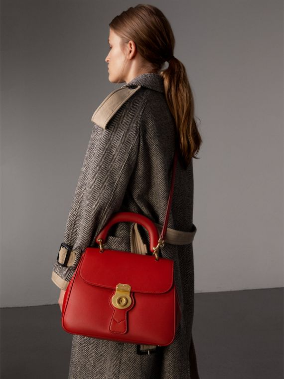 The Medium DK88 Top Handle Bag in Coral Red - Women | Burberry - cell image 3