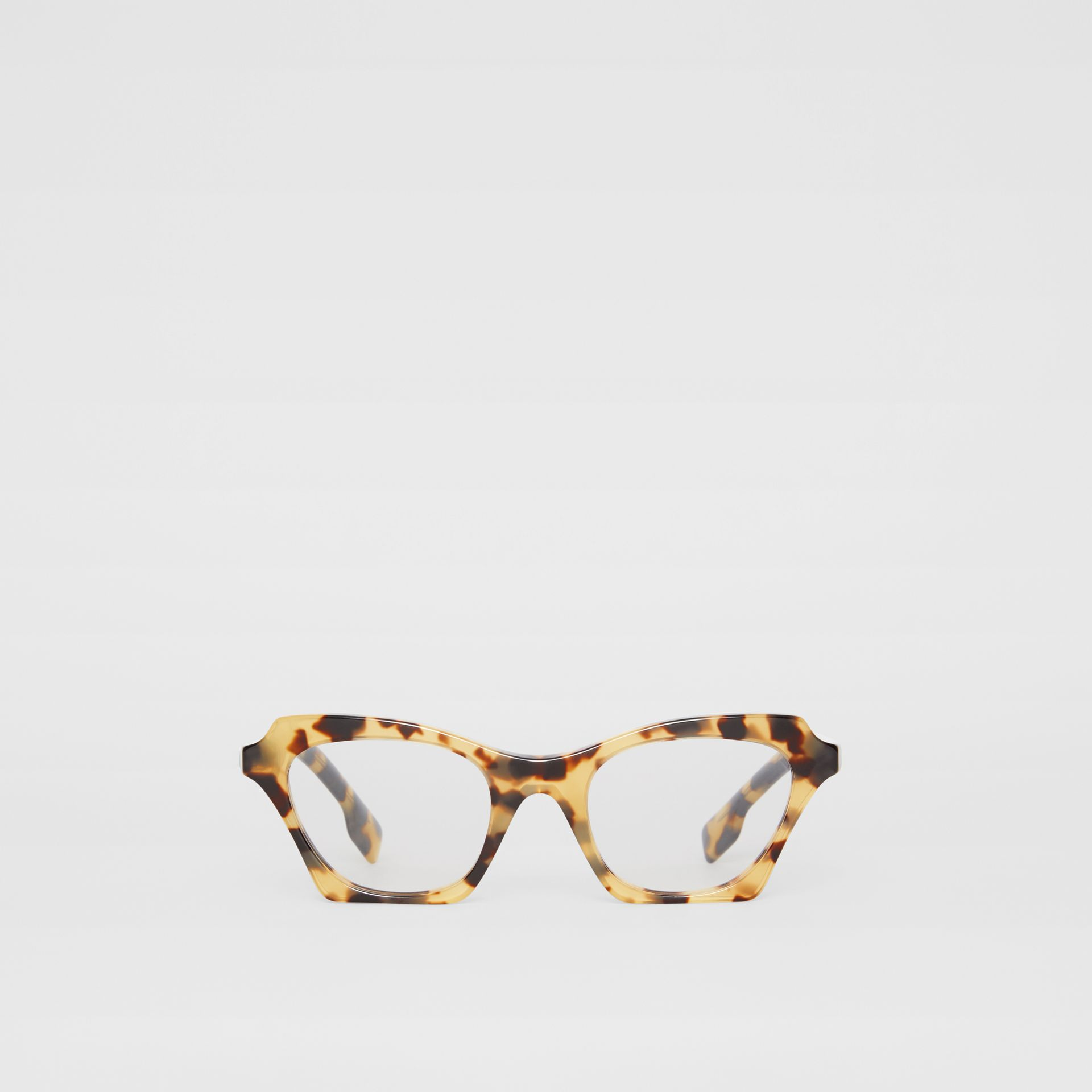 Butterfly Optical Frames in Tortoise Shell - Women | Burberry United Kingdom - gallery image 0