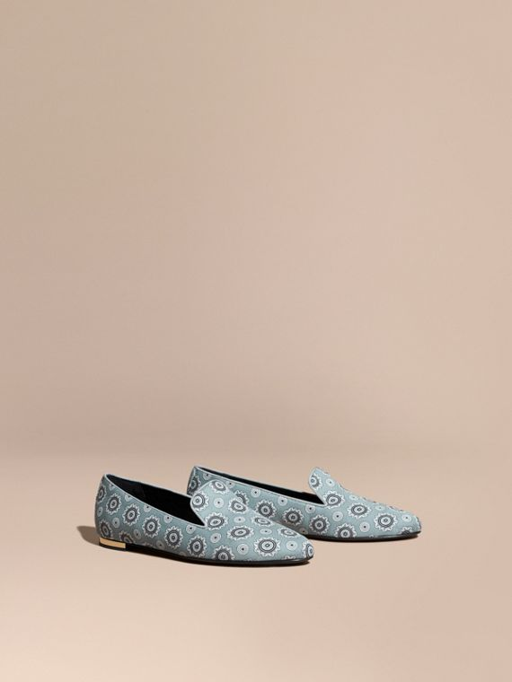 Pyjama Print Silk Cotton Loafers - Women | Burberry