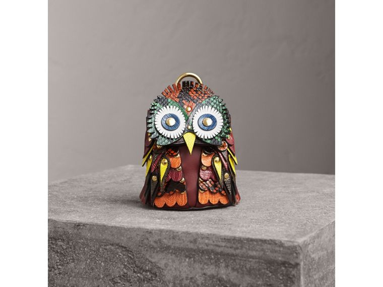 The Owl – Leather and Snakeskin Coin Case in Wine - Women | Burberry - cell image 4