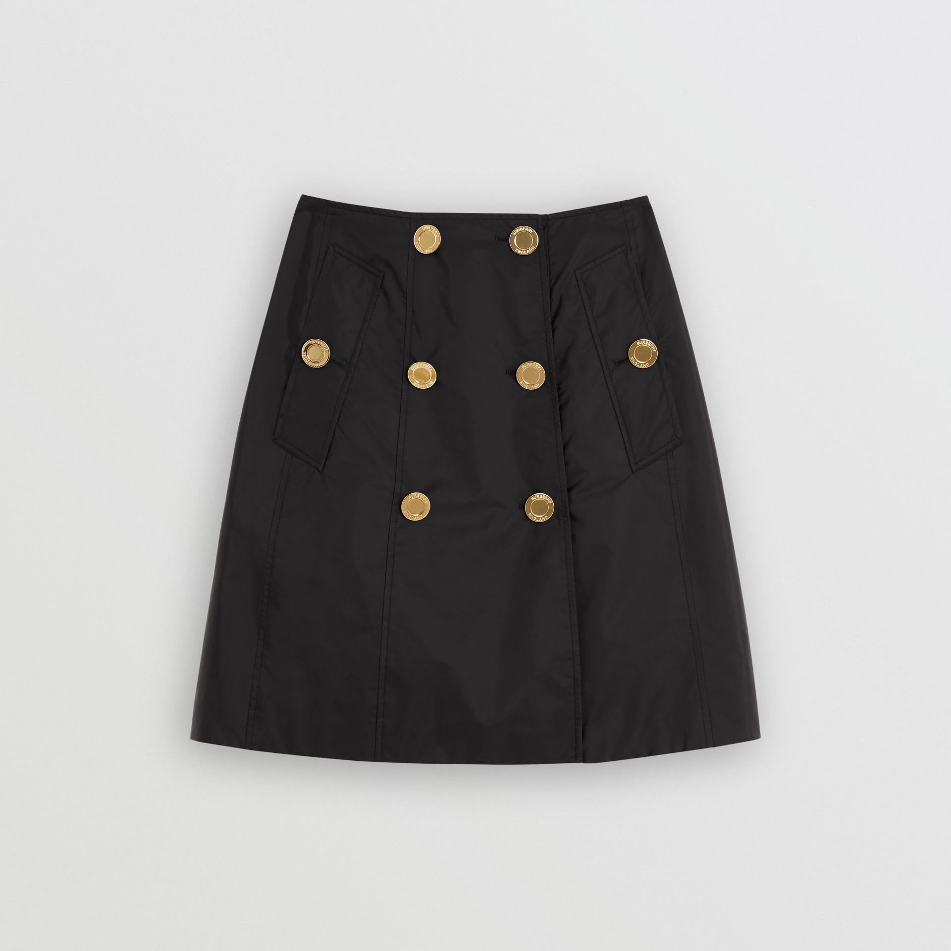 Nylon Trench Skirt in Black - Women | Burberry - gallery image 1