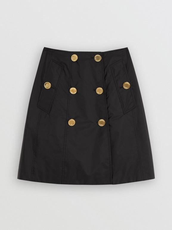 Nylon Trench Skirt in Black - Women | Burberry - cell image 1