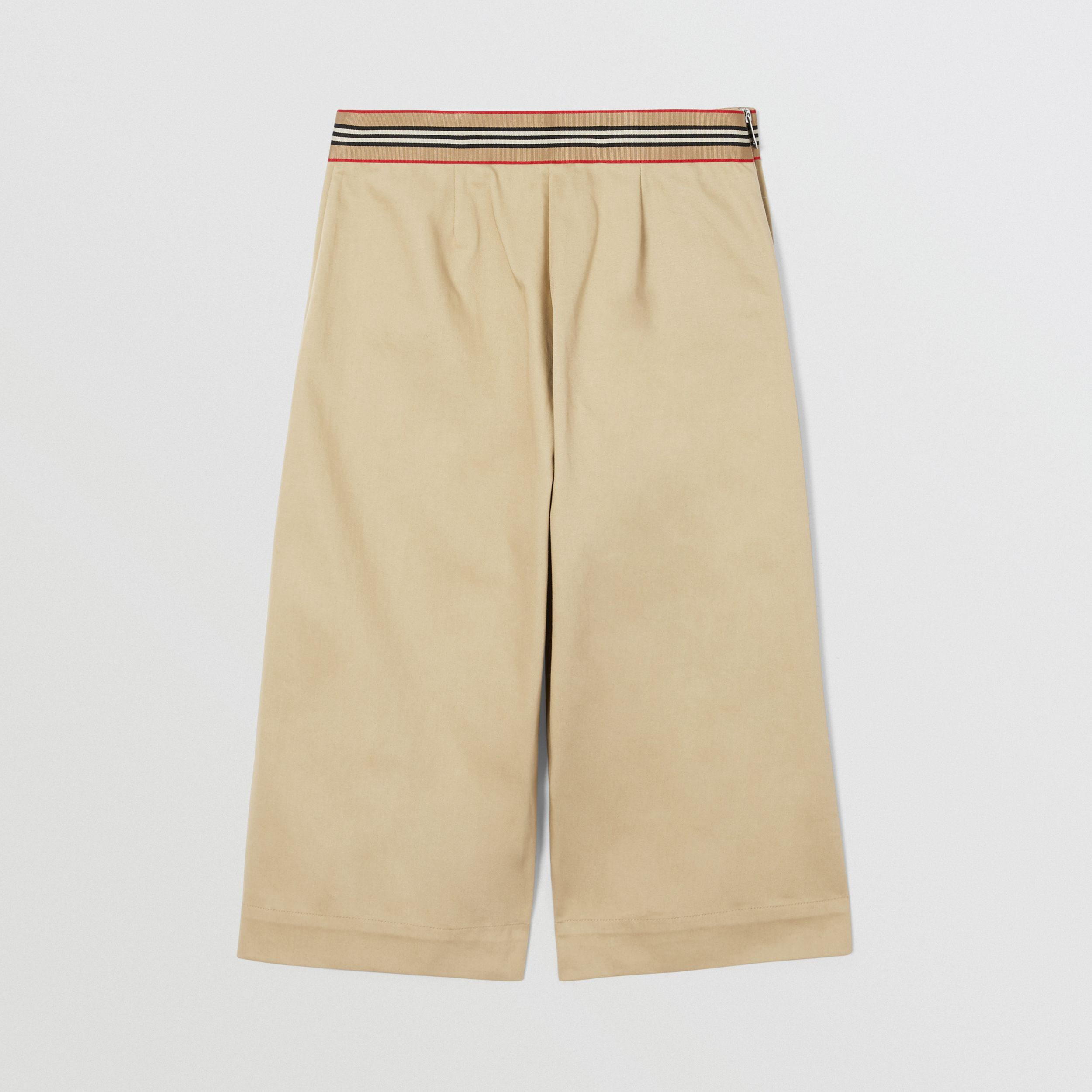 Icon Stripe Trim Cotton Sailor Trousers in Honey | Burberry Hong Kong S.A.R. - 3