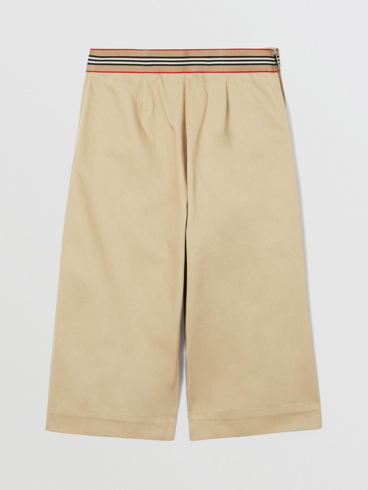 Icon Stripe Trim Cotton Sailor Trousers in Honey