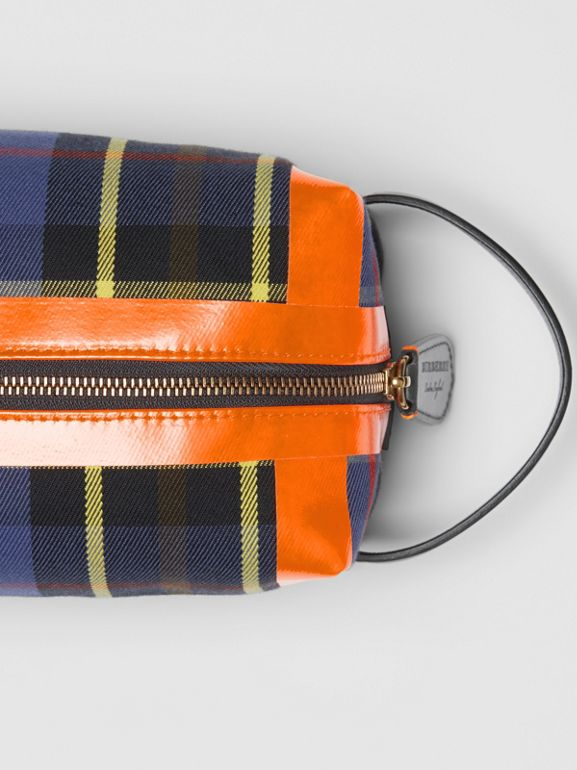 Tartan Cotton Pouch in Cobalt | Burberry - cell image 1