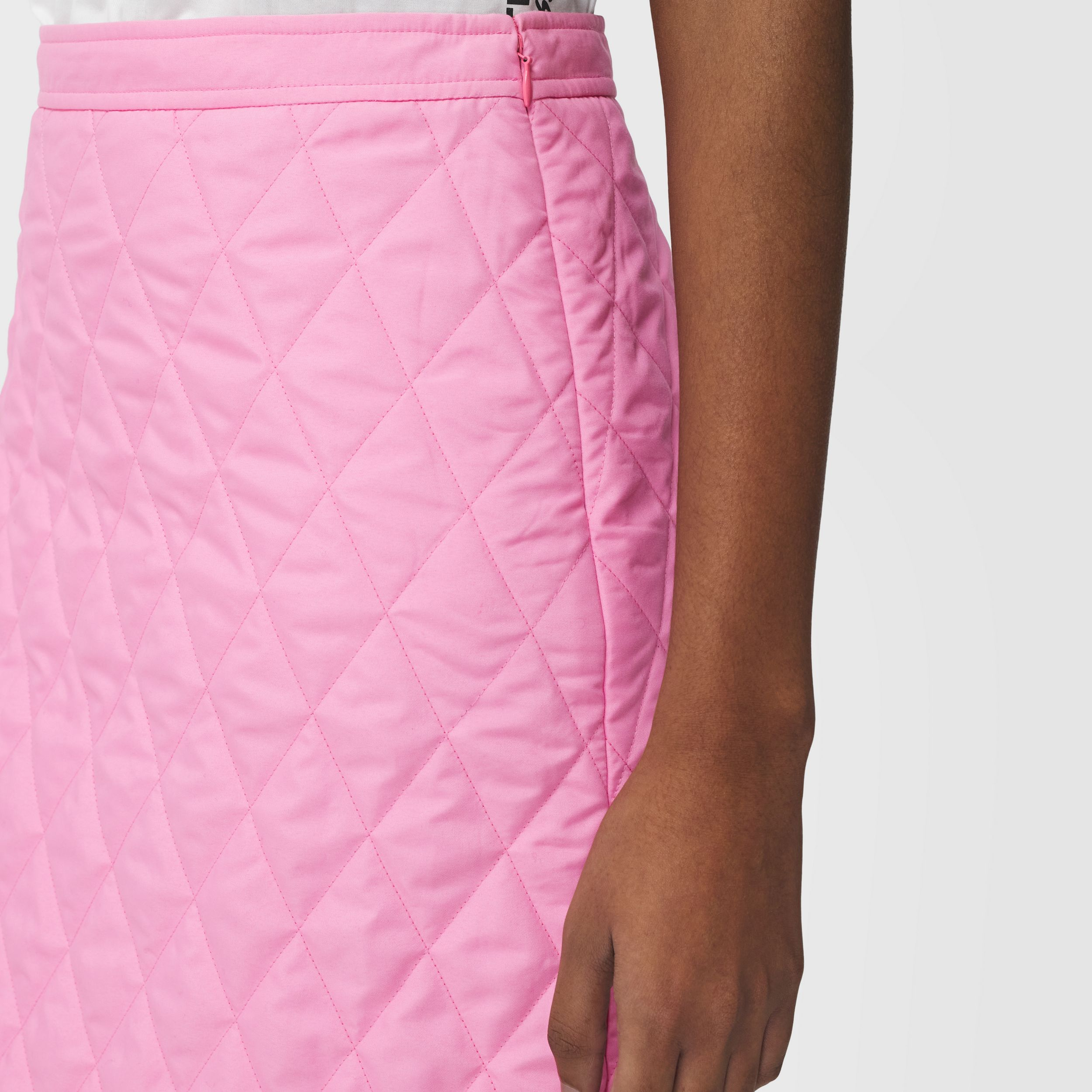 Diamond Quilted Skirt in Bubblegum Pink - Women | Burberry - 2