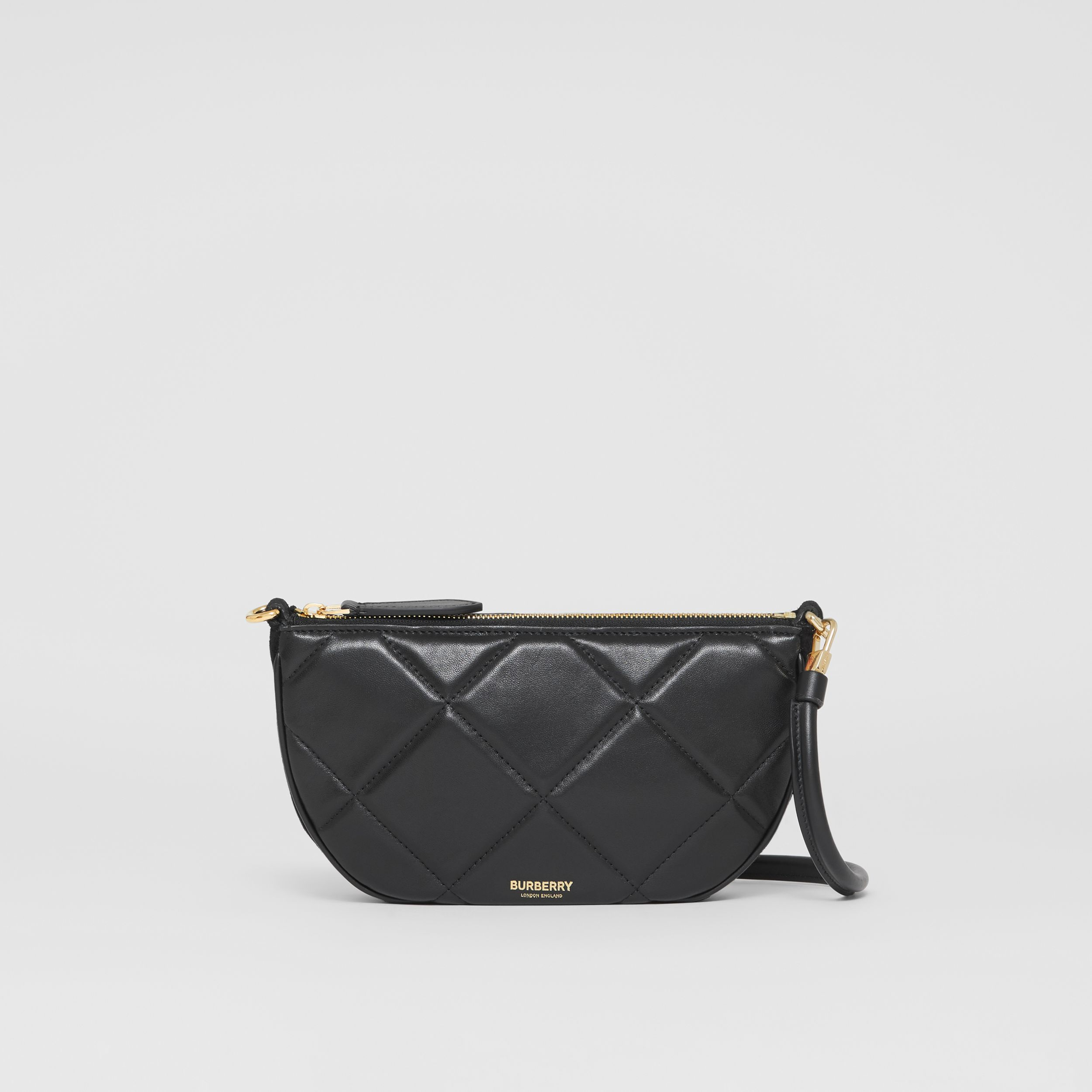 Quilted Lambskin Olympia Pouch in Black - Women | Burberry - 3