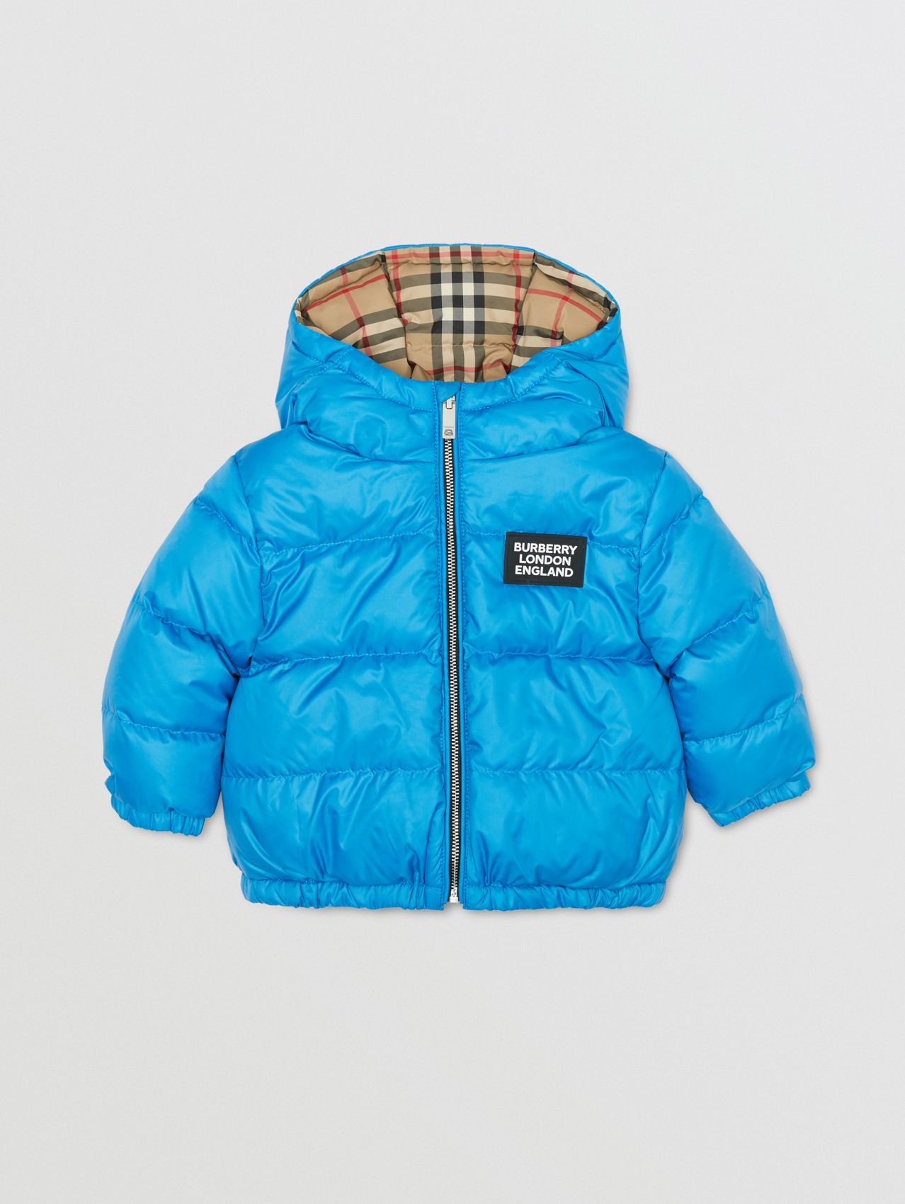 Reversible Vintage Check Puffer Jacket