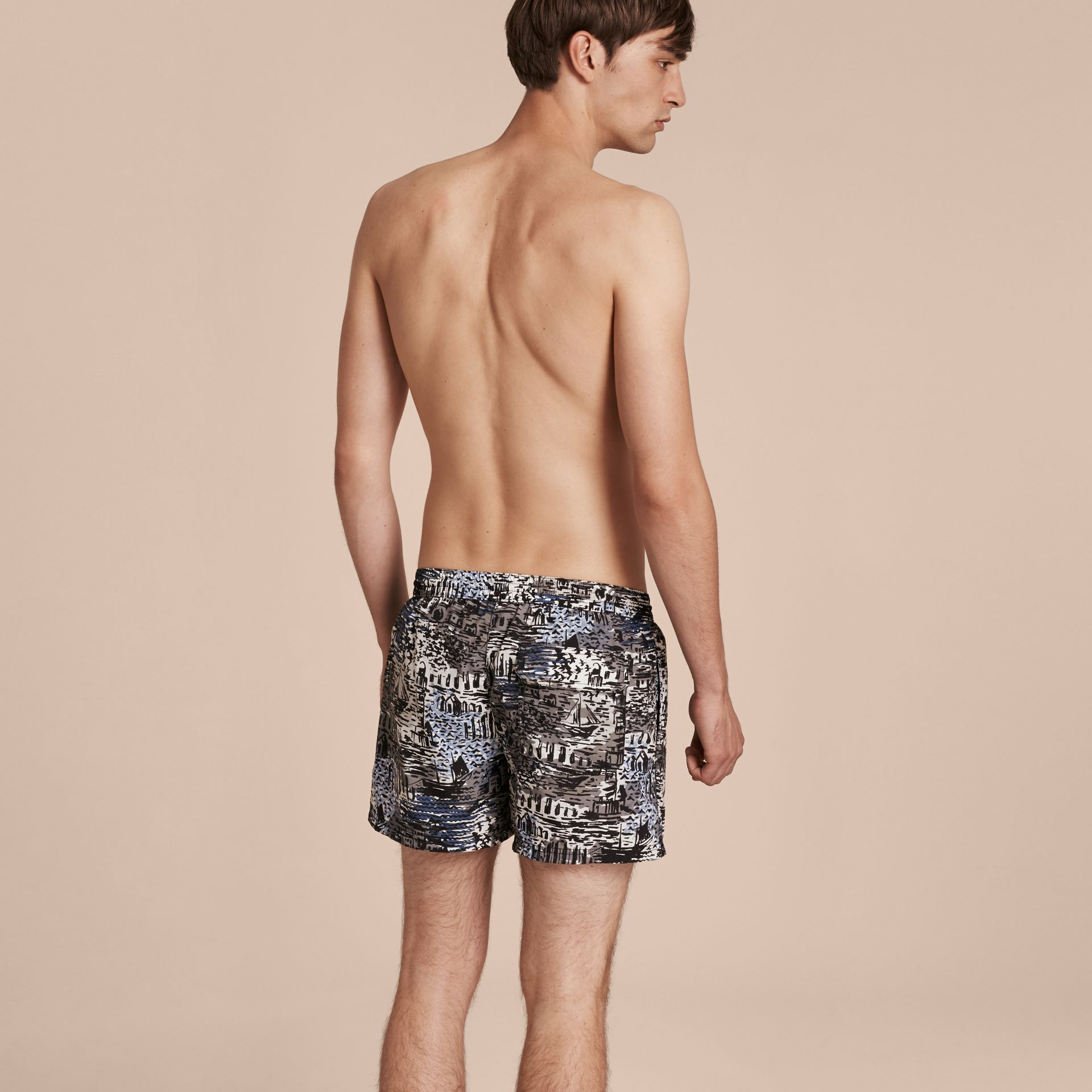 Lightweight British Seaside Print Swim Shorts - gallery image 3