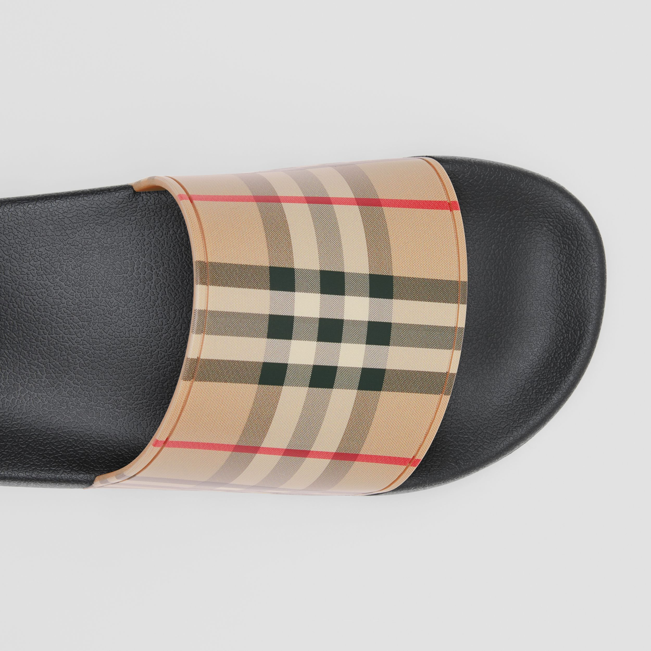 Vintage Check Slides in Archive Beige - Men | Burberry - 2
