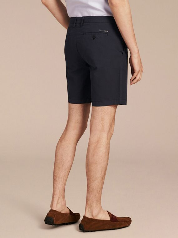 Cotton Poplin Chino Shorts in Indigo - Men | Burberry - cell image 2