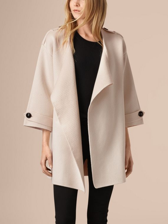 Natural white Knitted Silk Wool Cashmere Blend Jacket - cell image 3
