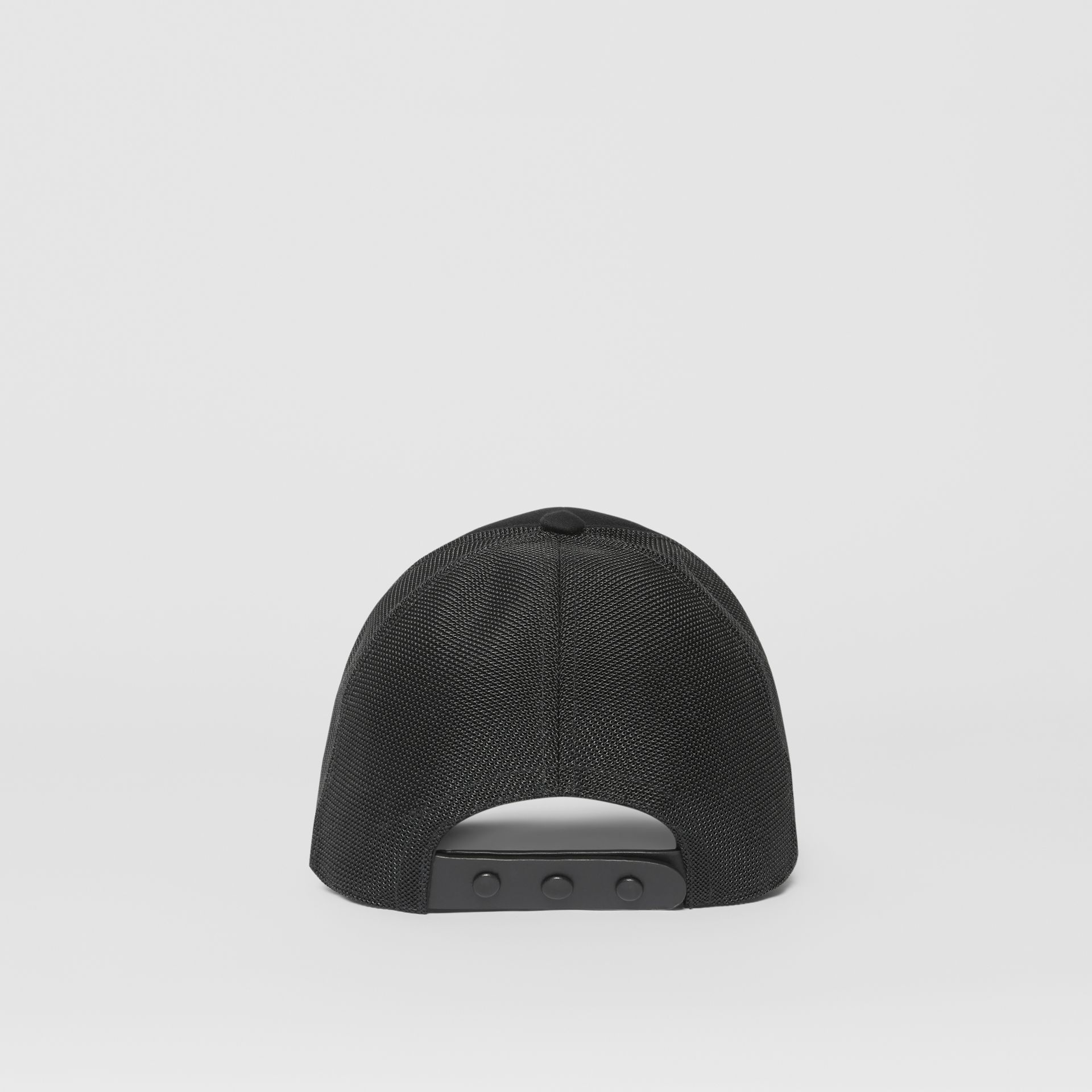 Logo Print Baseball Cap in Black | Burberry - gallery image 6