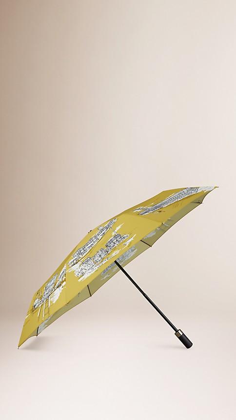 Jaune bleuet Parapluie télescopique avec monuments de San Francisco - Image 1