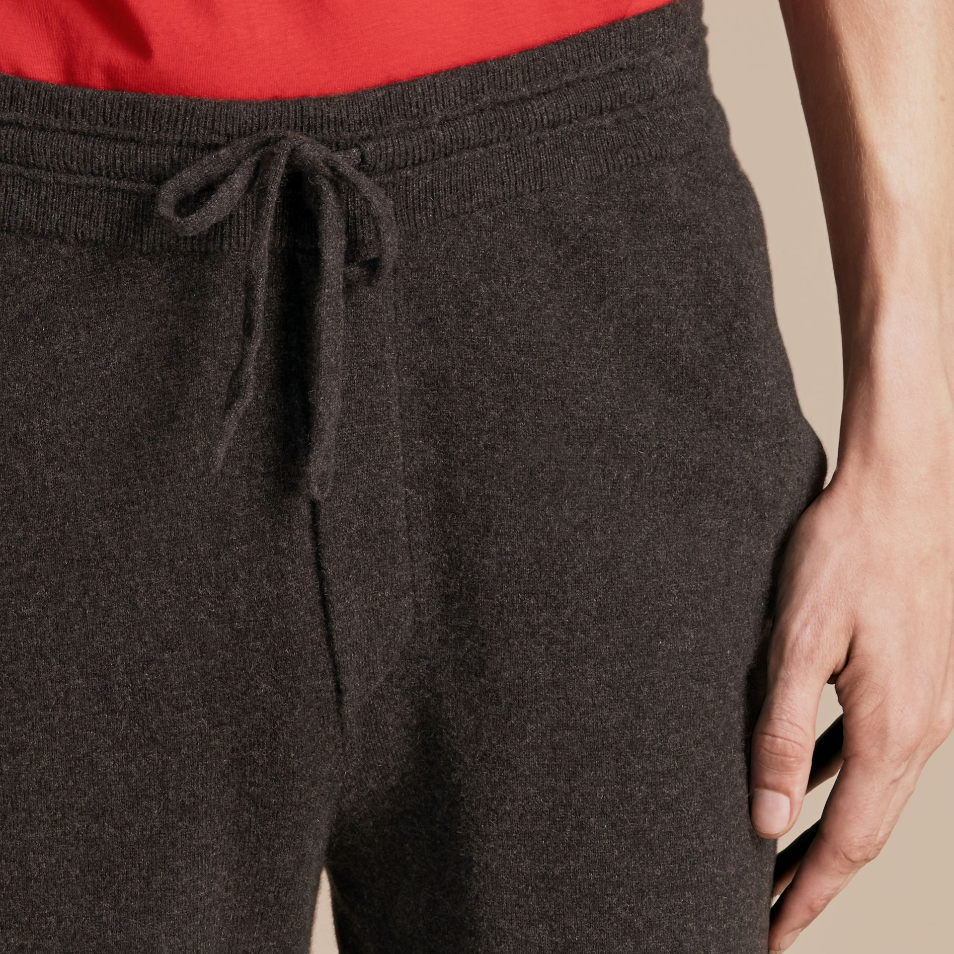 Knitted Cashmere Blend Drawstring Trousers - gallery image 3