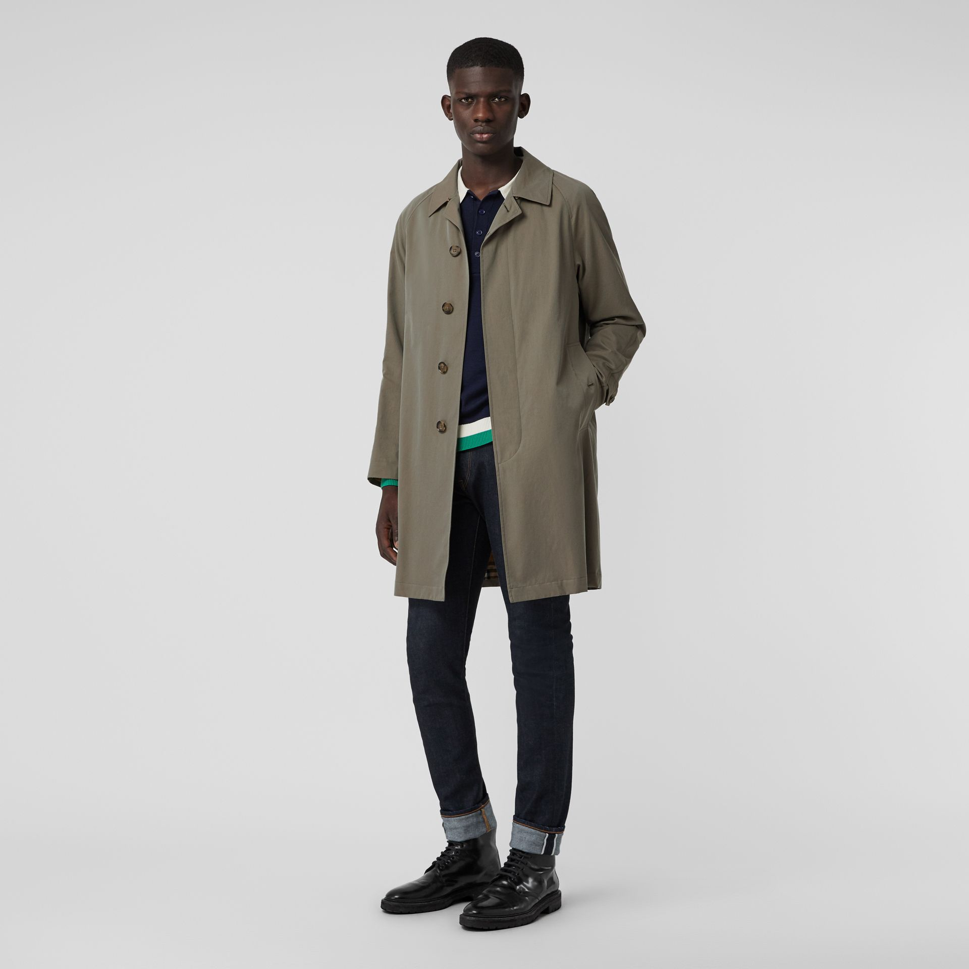 The Camden Car Coat in Chalk Green - Men | Burberry - gallery image 0