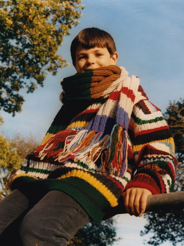 Matthew wearing striped wool.
