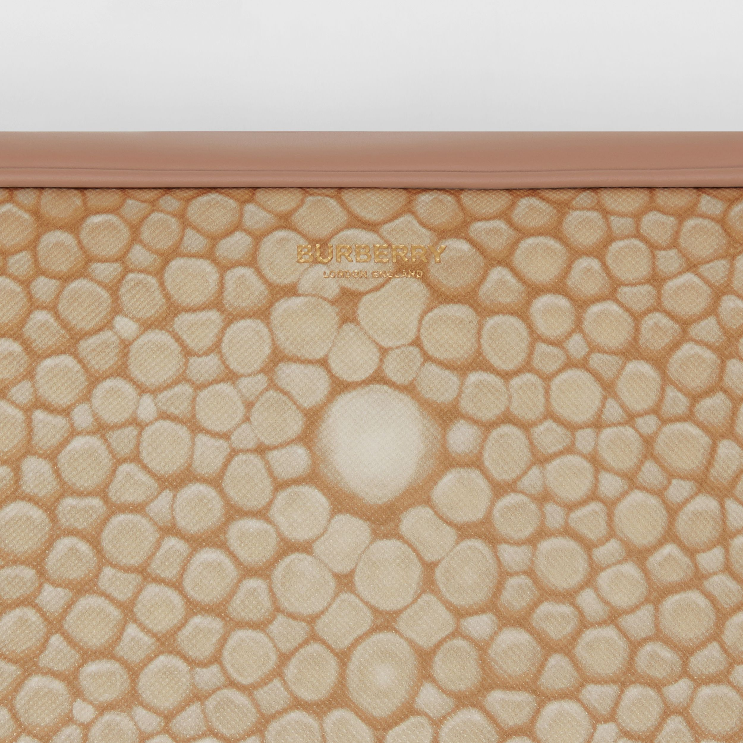 Fish-scale Print and Leather Cube Bum Bag in Light Sand - Women | Burberry - 2