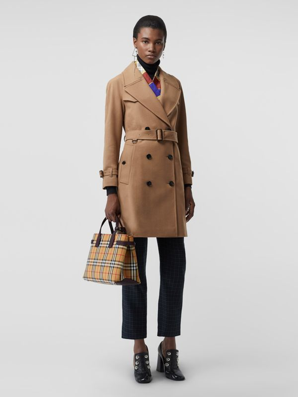 The Medium Banner in Vintage Check and Leather in Deep Claret - Women | Burberry United Kingdom - cell image 2