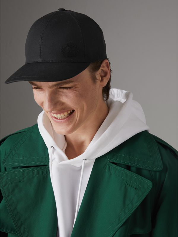 Archive Logo Baseball Cap in Black | Burberry - cell image 3