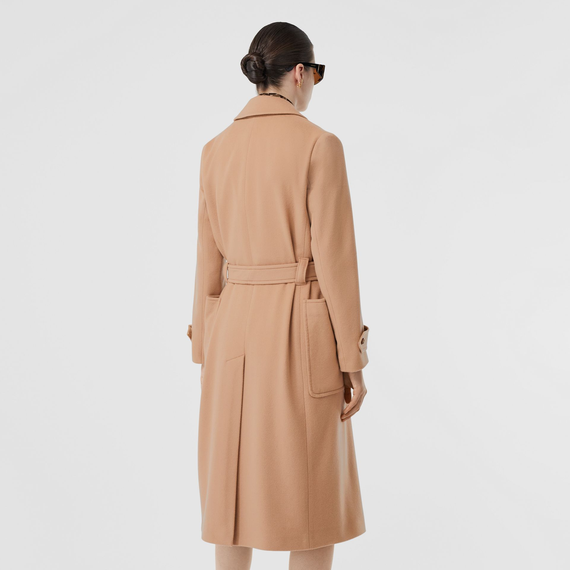 Cashmere Wrap Coat in Modern Beige - Women | Burberry - gallery image 2