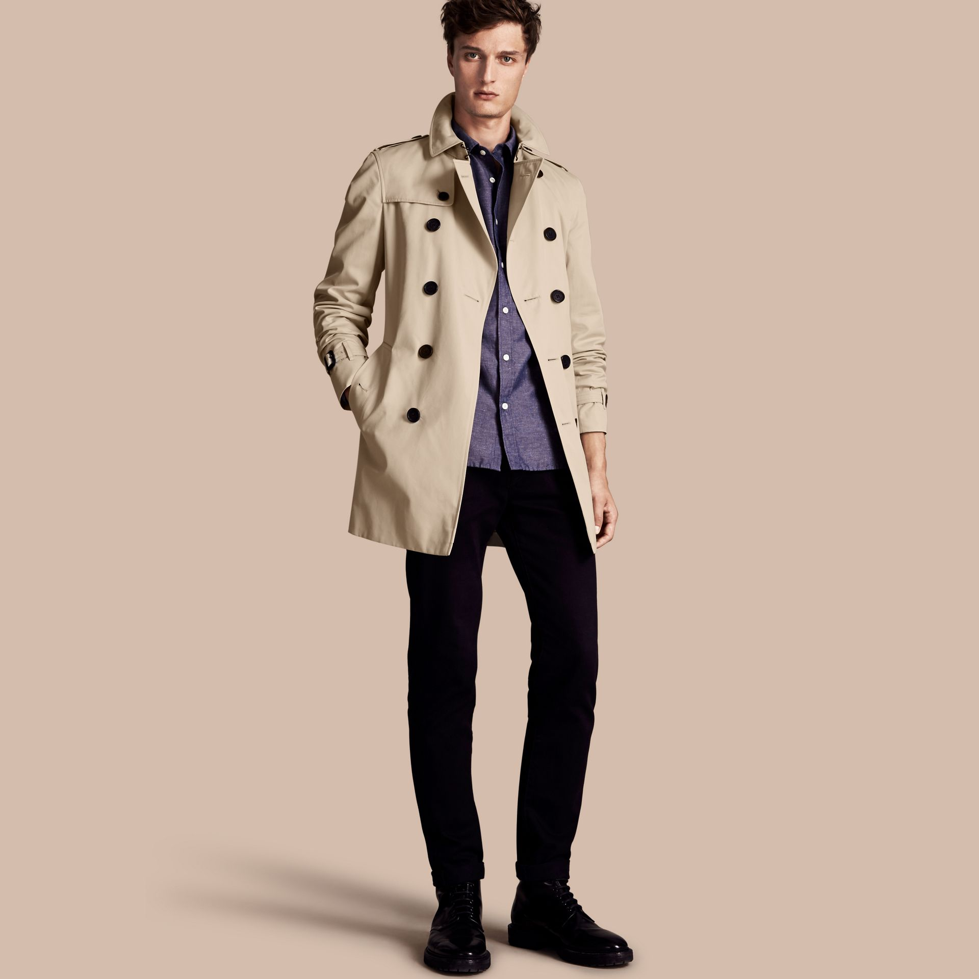 Stone The Chelsea – Mid-length Heritage Trench Coat Stone - gallery image 1