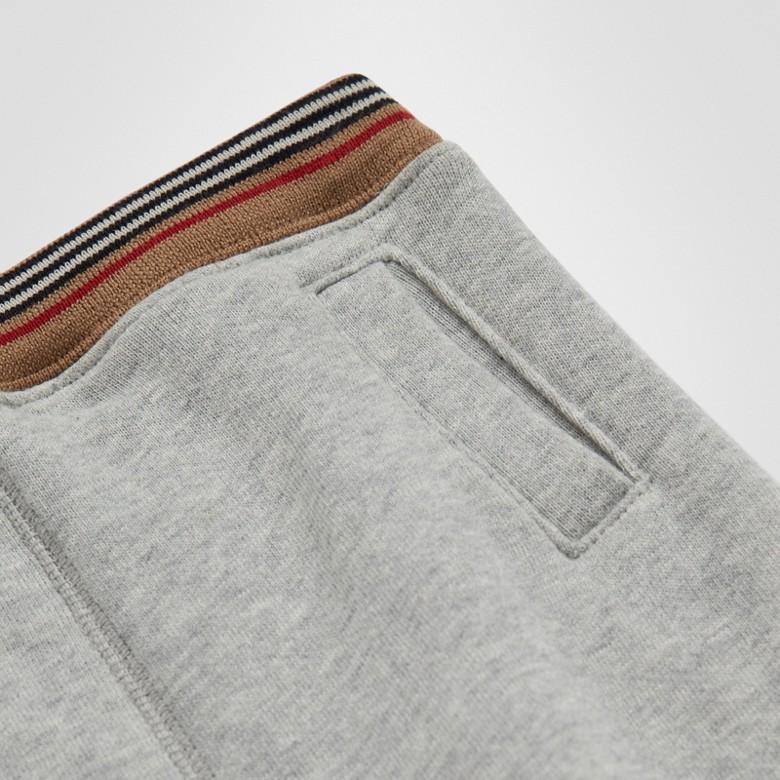 Burberry - Pantalon de survêtement en jersey de coton à rayures iconiques - 2