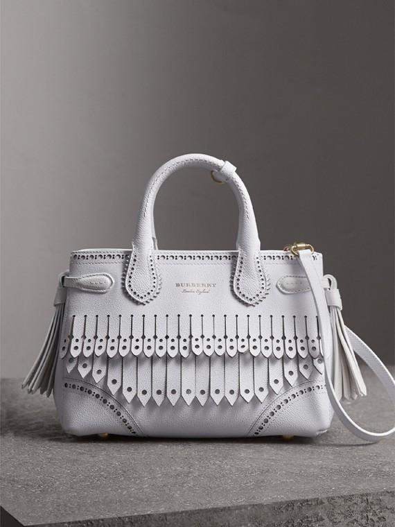 Petit sac The Banner de style richelieu (Blanc Craie)