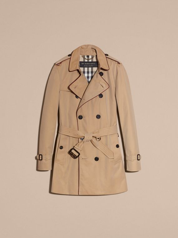 Honey Trench Coat with Regimental Piping Honey - cell image 3