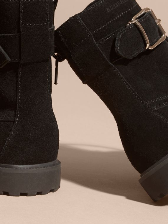 Black Suede Lace-up Boots - cell image 3