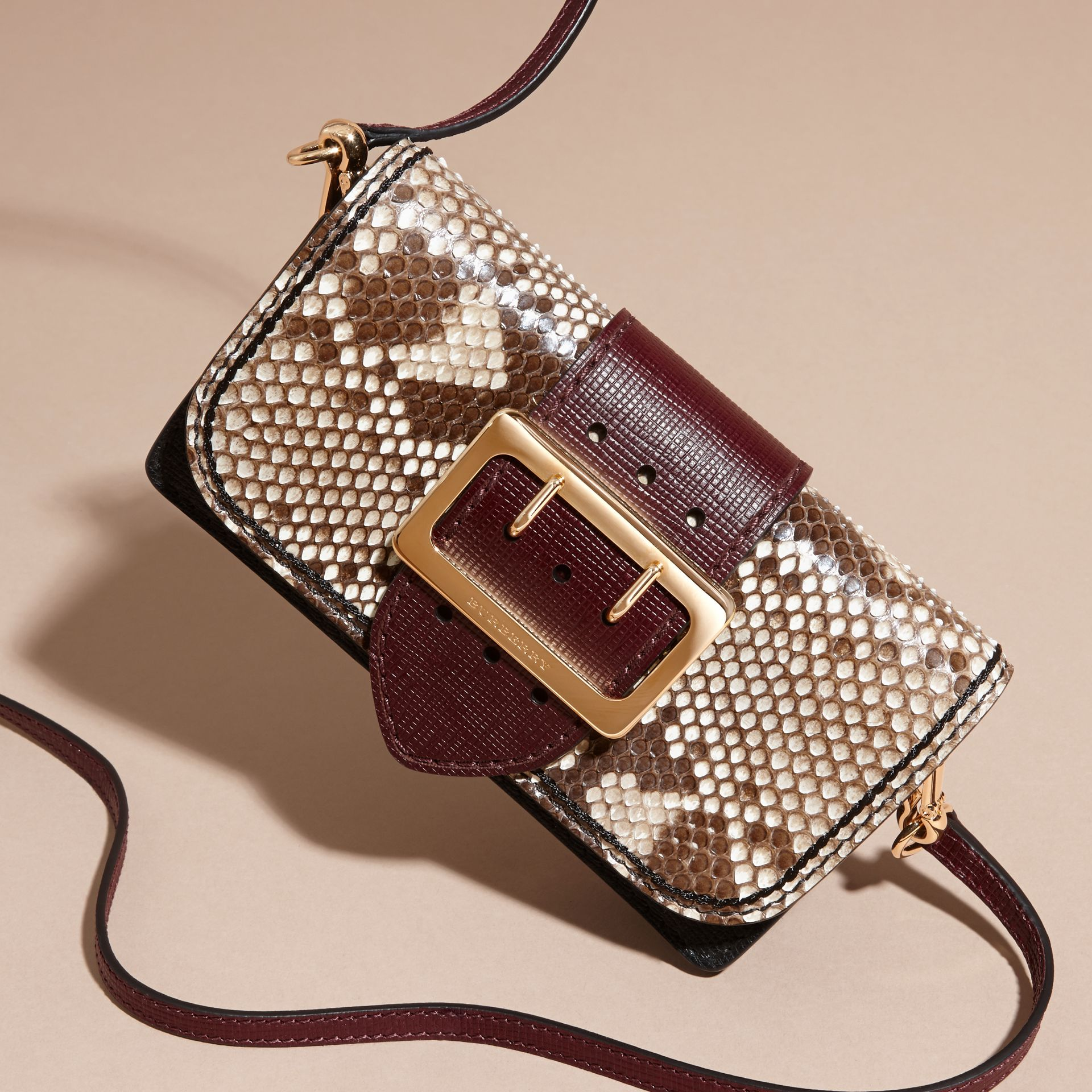 The Small Buckle Bag in Python and Leather - gallery image 8