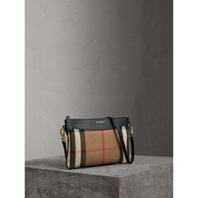 Burberry - Clutch en coton House check et cuir - 7