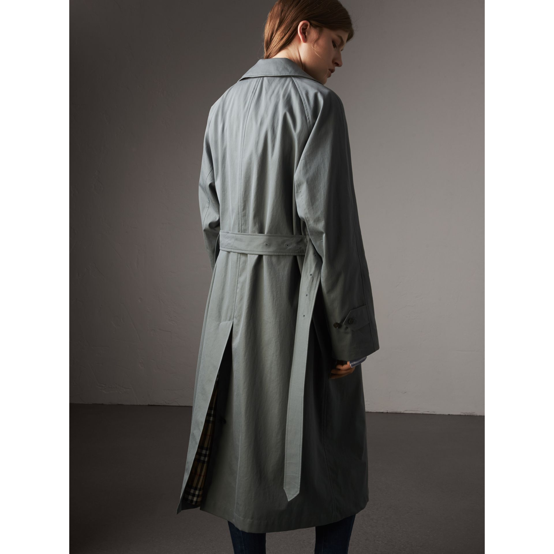 The Brighton – Extra-long Car Coat in Dusty Blue - Women | Burberry Canada - gallery image 3