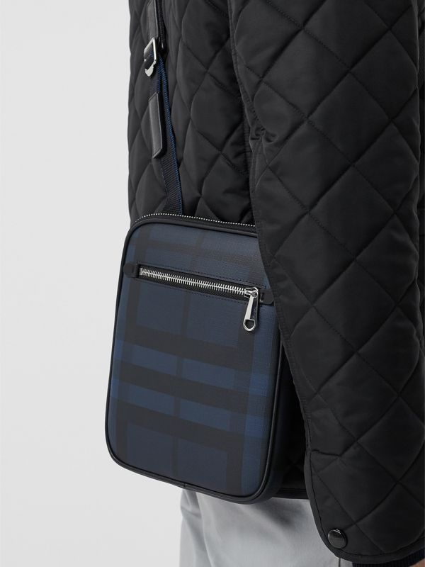 Slim London Check Crossbody Bag in Navy/black - Men | Burberry Hong Kong S.A.R - cell image 3