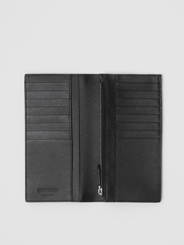 Grainy Leather Continental Wallet in Black - Men | Burberry United States - cell image 2