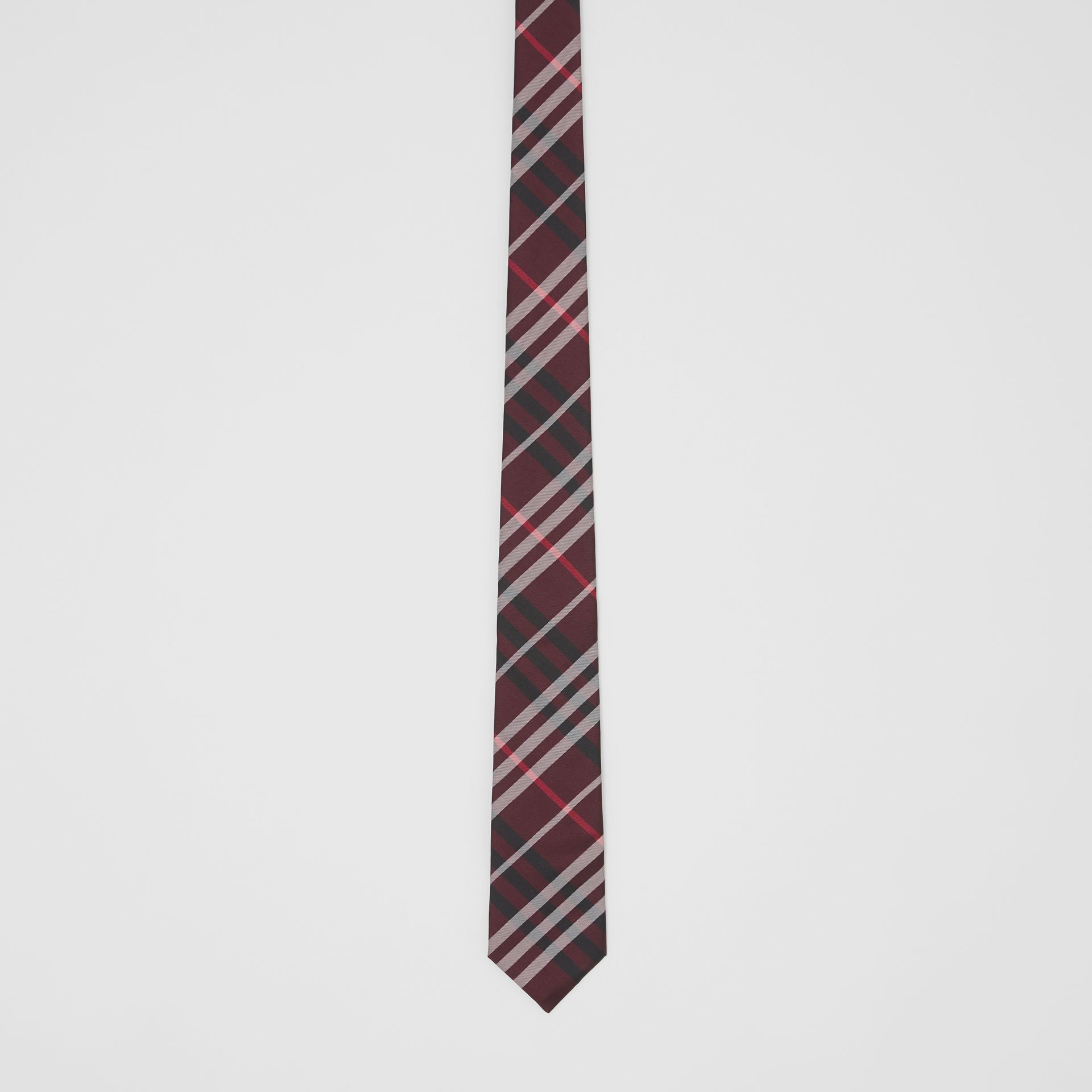 Classic Cut Vintage Check Silk Tie in Claret - Men | Burberry United Kingdom - gallery image 3