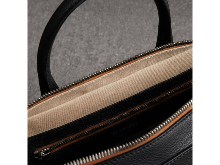 Grainy Leather Briefcase in Black - Men | Burberry - cell image 4