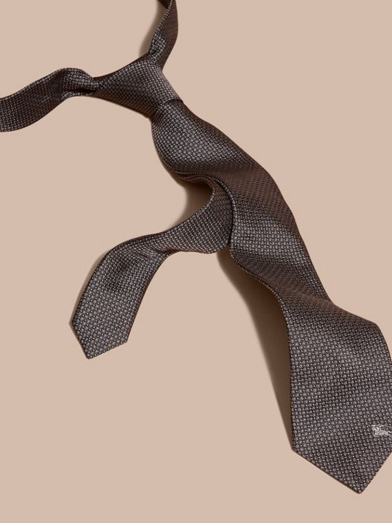 Black Modern Cut Patterned Silk Tie Black - cell image 2