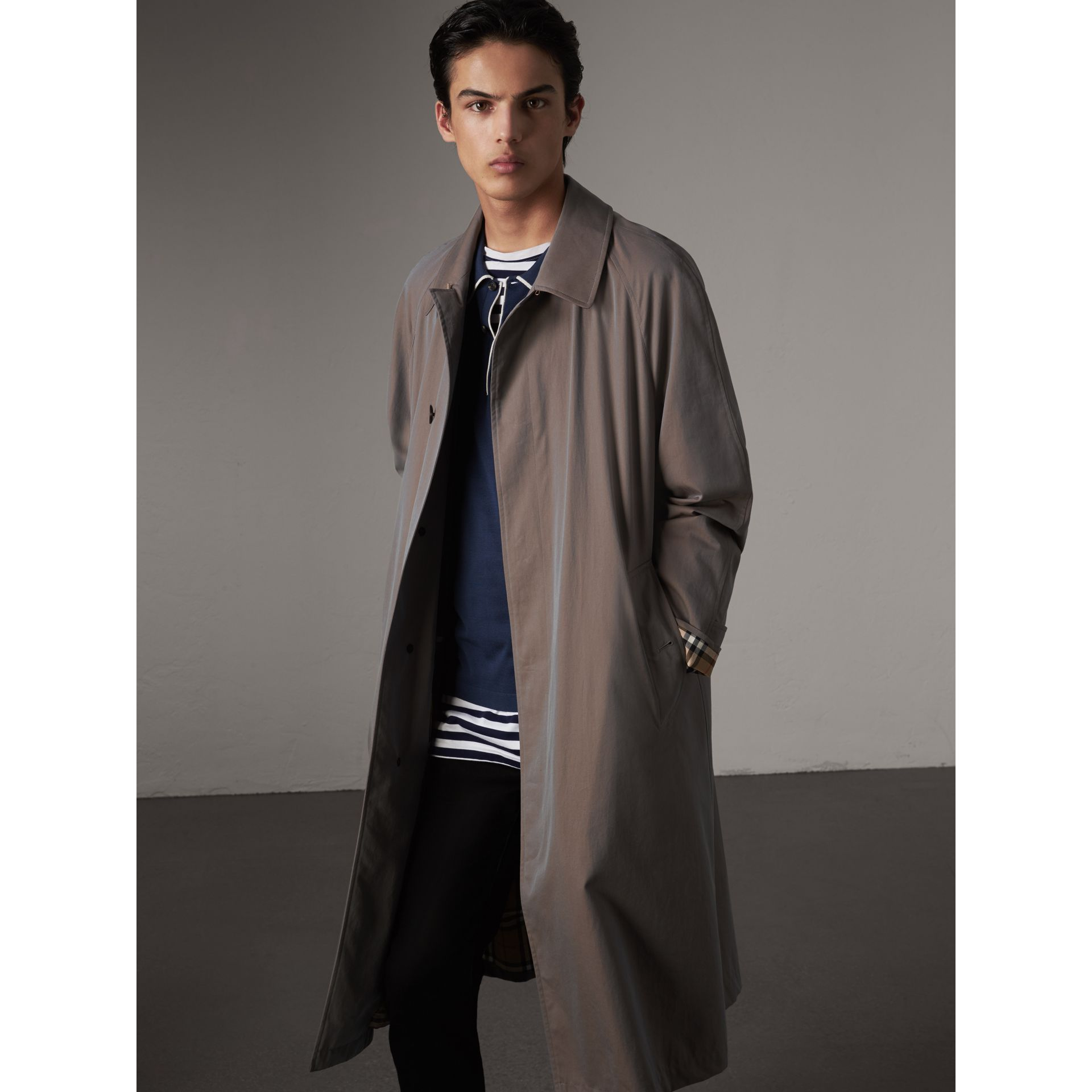 The Brighton – Longline Car Coat in Lilac Grey - Men | Burberry - gallery image 6