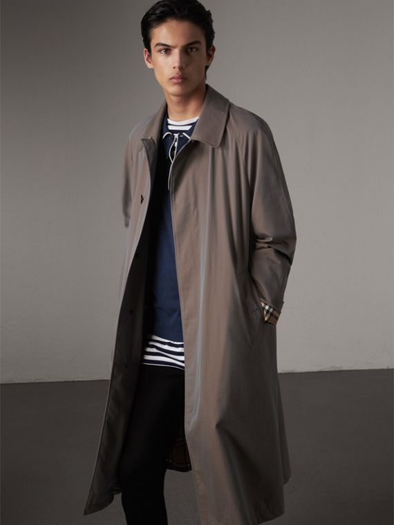 The Brighton – Extra-long Car Coat – Online Exclusive in Lilac Grey