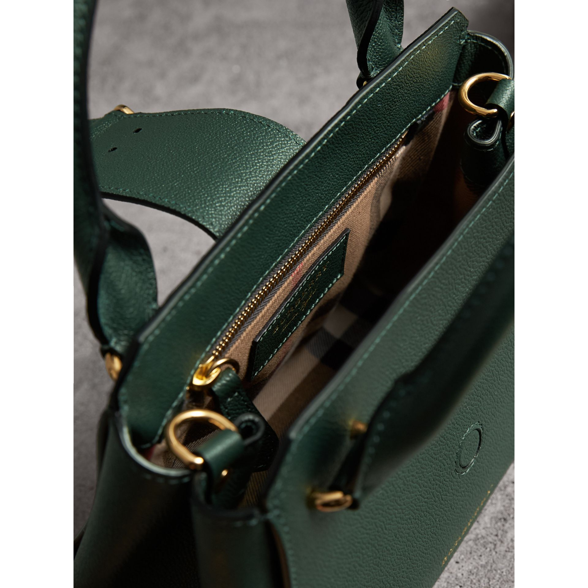 The Small Buckle Tote in Grainy Leather in Sea Green - Women | Burberry United Kingdom - gallery image 5