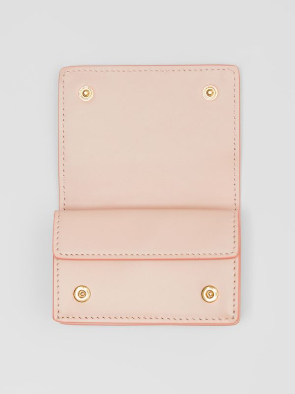 Monogram Leather Card Case in Rose Beige | Burberry Canada - cell image 2