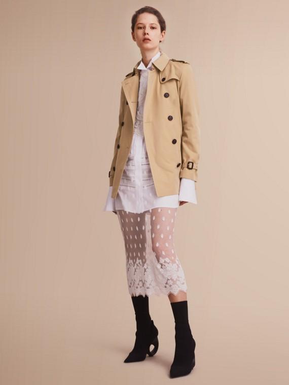 The Kensington - Trench coat Heritage corto Miele