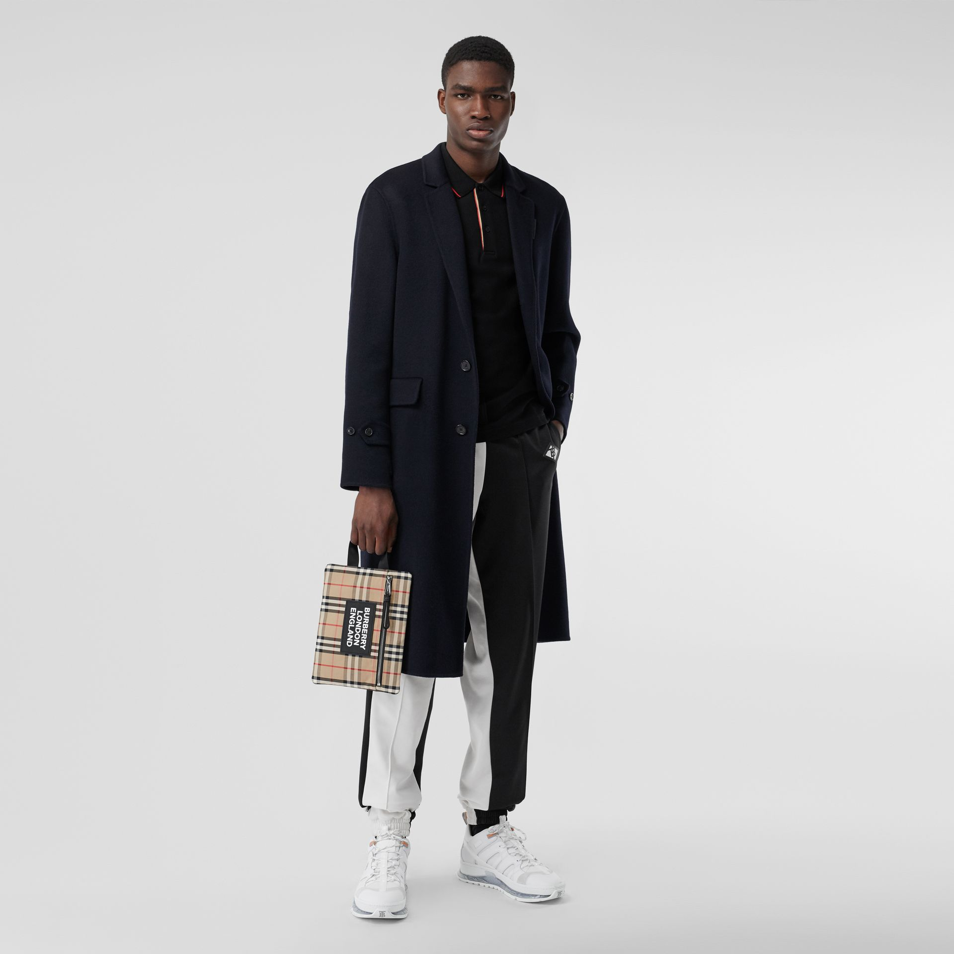 Cashmere Lab Coat in Navy - Men | Burberry - gallery image 6