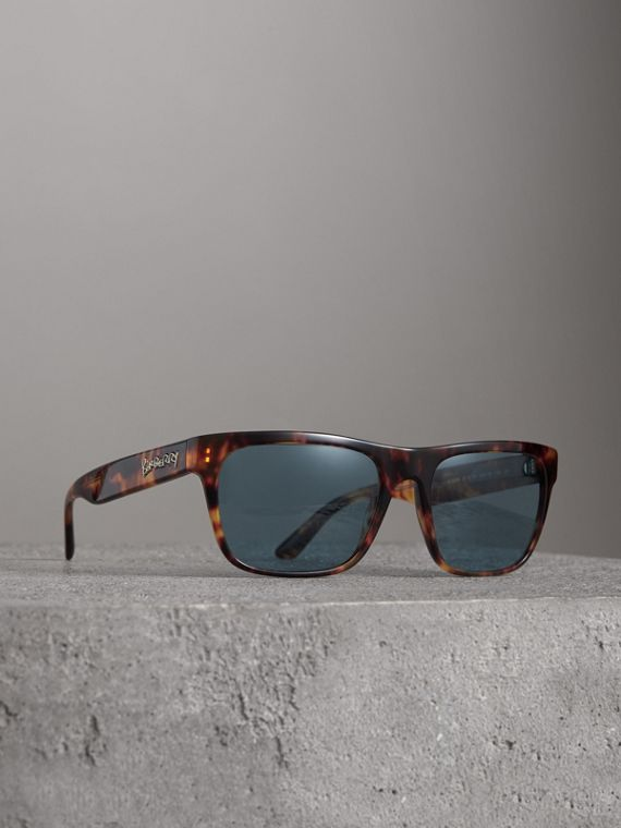 Doodle Square Frame Sunglasses in Brown