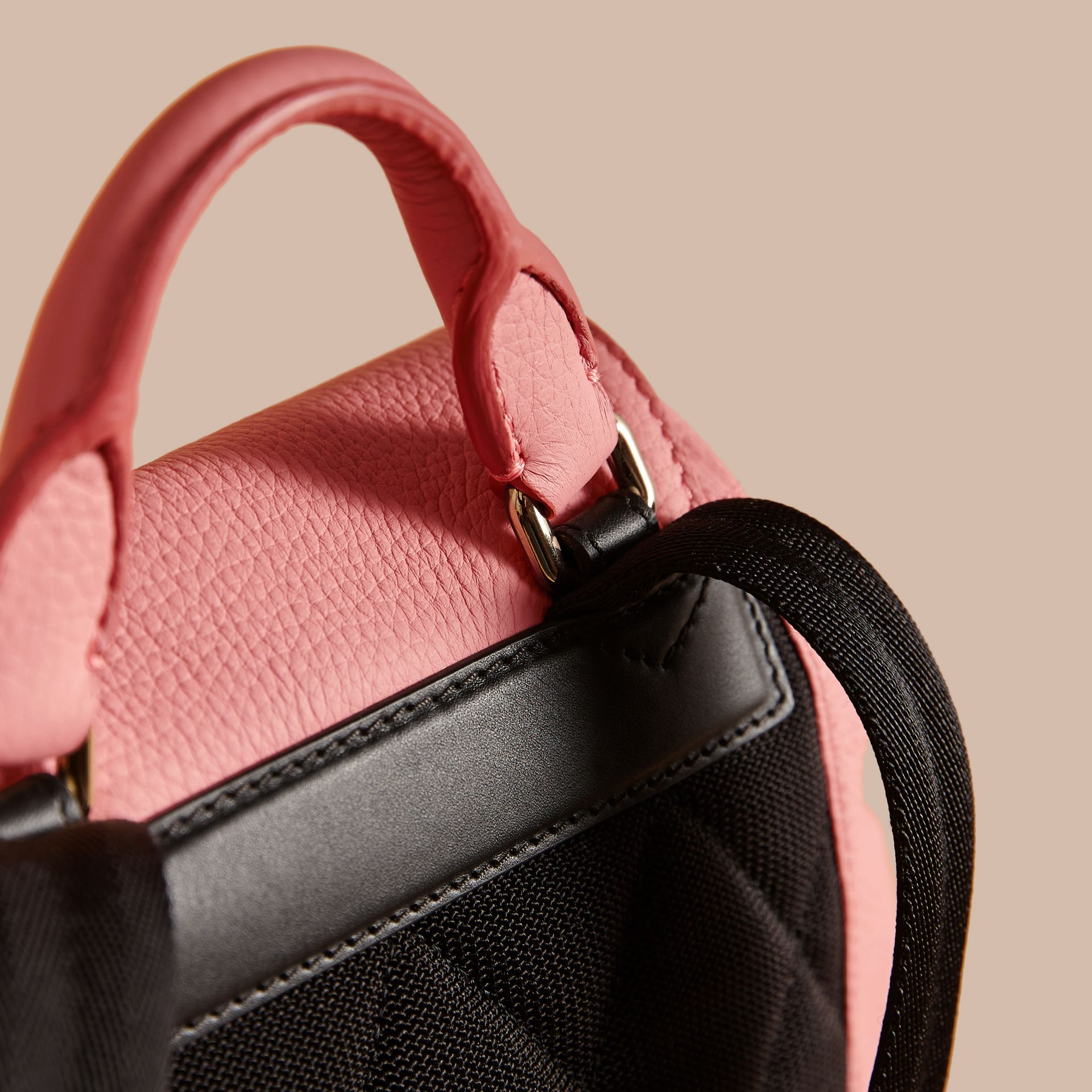 The Medium Rucksack in Deerskin with Resin Chain in Blossom Pink - Women | Burberry - gallery image 2